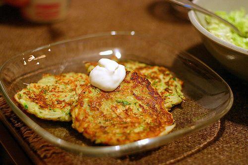 zucchini pancakes | Eat | Pinterest