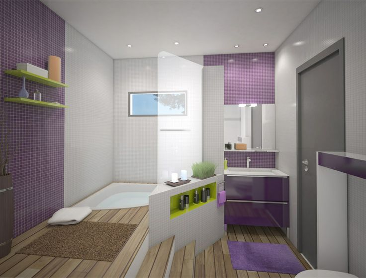 Baignoiredouche sur estrade  Déco  Salle de bains  Pinterest