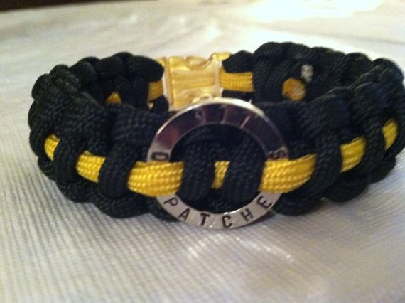 Thin Gold Line Paracord 911 Dispatchers by TheCraftyTraveler, $12.00