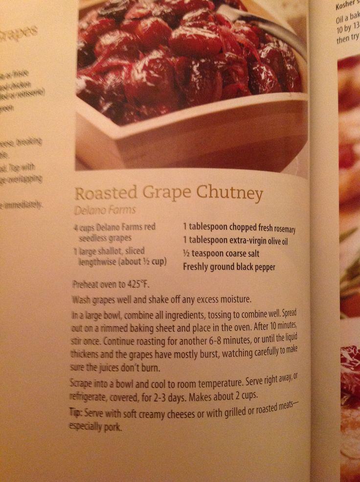Roasted grape chutney | Appetizers & snacks | Pinterest