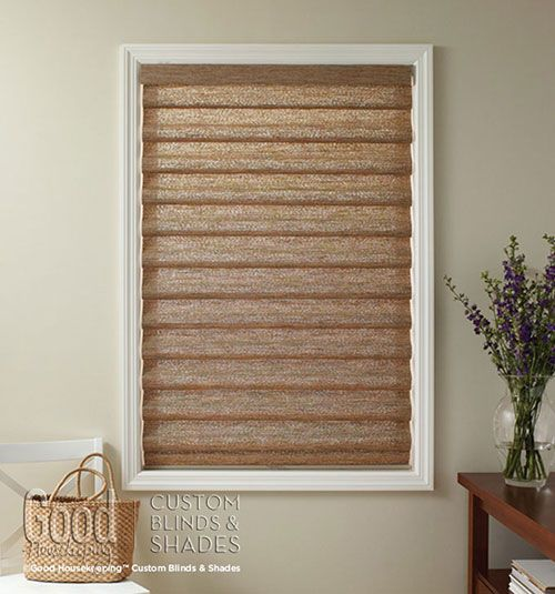 Housekeeping™ Roman Shades: Natural Weave & Woven Stripe- natural ...