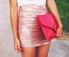Shimmery pink mini