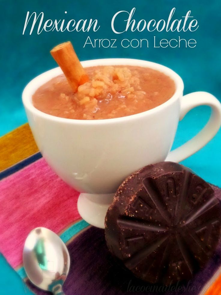 Arroz con Leche de Chocolate MexicanoArroz Con Leche Mexicano
