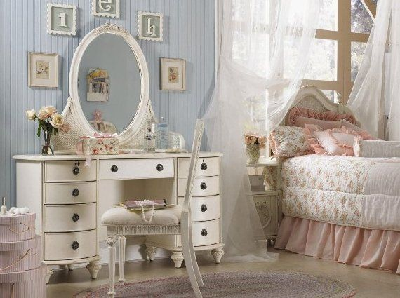 practical bedroom vanity set girls spaces pinterest