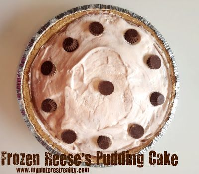No Bake Frozen Reese's Pudding Cake | *Yumdillyicious* Food! | Pinter ...