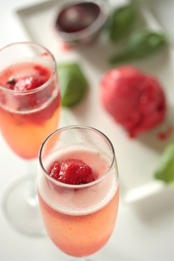 pod strawberry basil sorbet recipe two peas their pod strawberry basil ...