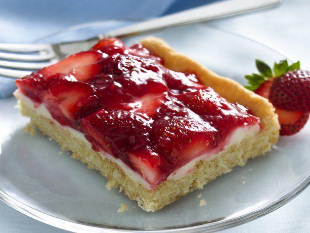 Strawberries and Cream Dessert Squares.
