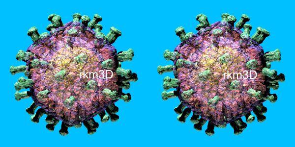 Rotavirus 3D stereo pair | Stereo-pair 3D Images