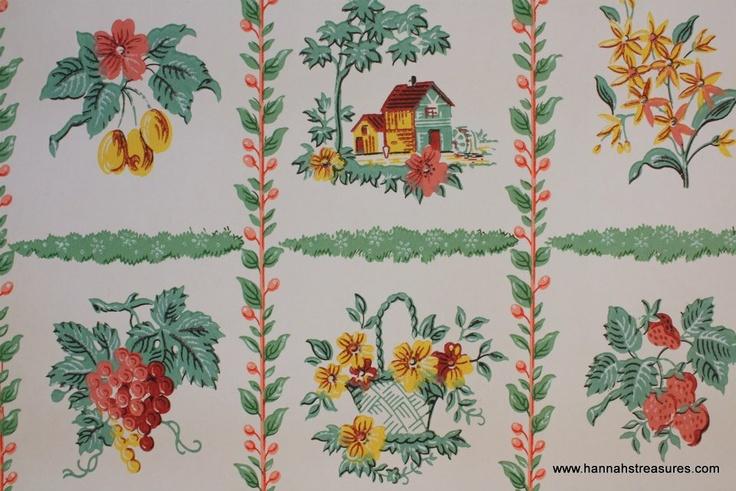 whimsical kitchen wallpaper