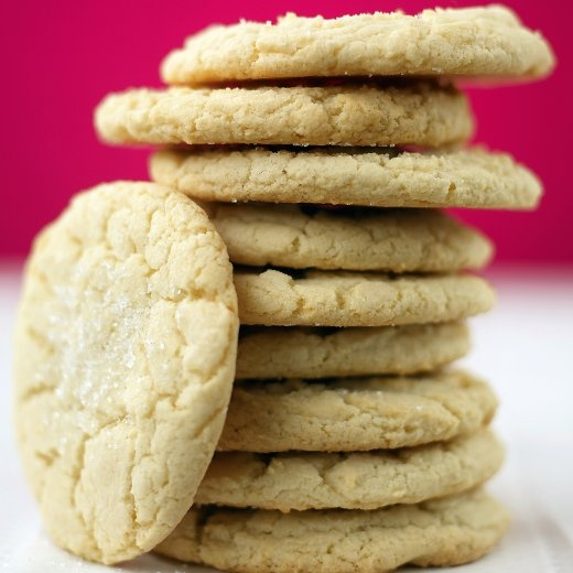 Giant Sugar Cookies - Martha Stewart Recipes we use colored sugar to ...