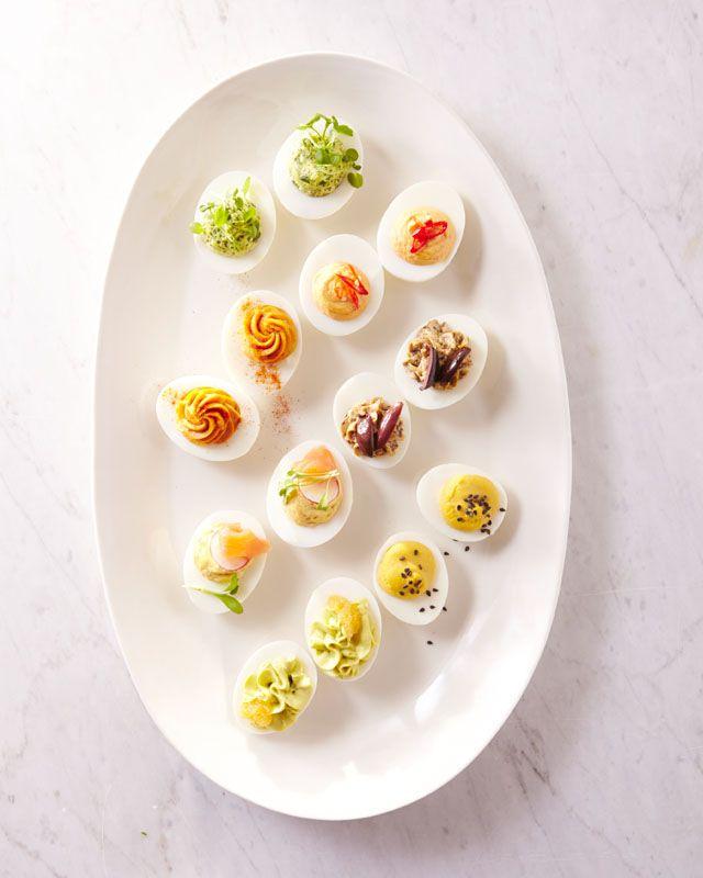 Martha Stewart Shares Her Easter Entertaining Tips // Easter Deviled Eggs