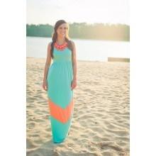 Robin Beach Maxi Dress- Aqua - $44.00