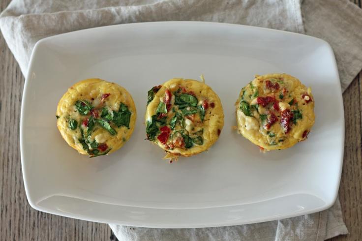 Skinnyluscious: Mini Spinach and Feta Frittatas [Clean-Eating]