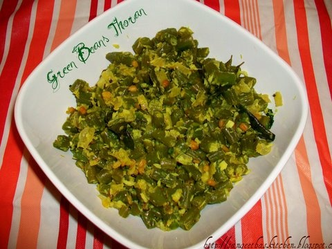 Green Beans Thoran (with Coconut Masala) | Indian Recipes | Pinterest