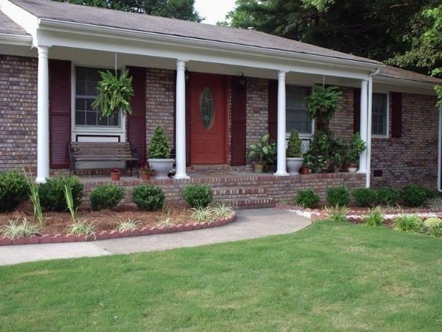 Brick ranch home pinterest for Small brick ranch homes