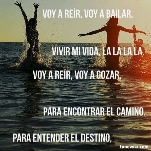 vivir mi vida! | Letras de canciones en español.! | Pinterest