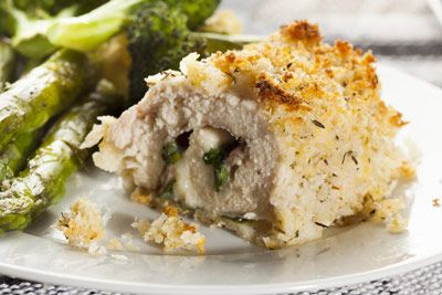 Make your own Stuffed Chicken Breast, Chicken Cordon Bleu, asparagus ...