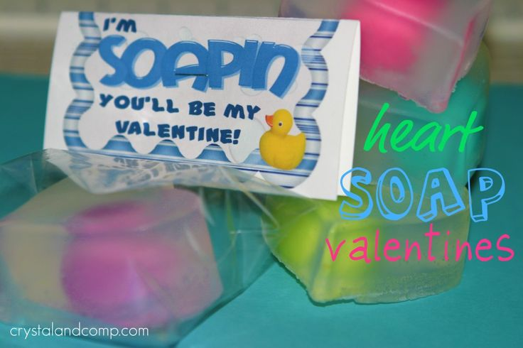 Heart Soap Valentines with Free Printable