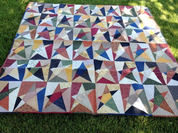 Buggy barn crazy stars throw quilt ready to by merrystitiches 275 00