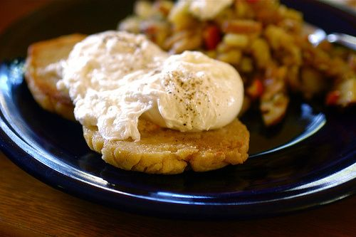poached eggs on English muffins | Gluten Free | Pinterest