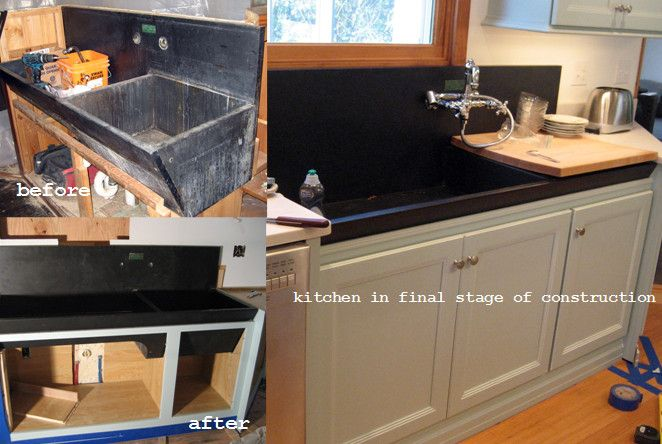 restoration of slate sink  Kitchen  Pinterest