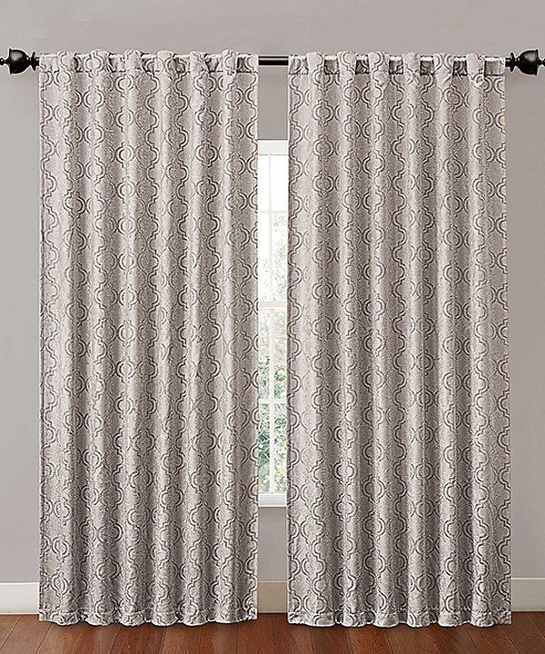 ... look at this Silver Hensley Blackout Curtain Panel on zulily today