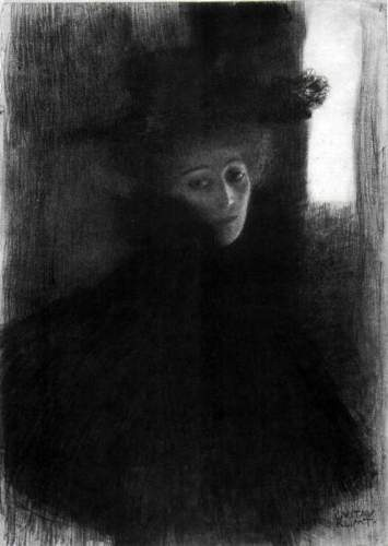 Gustav Klimt, Lady with a Hat and Cape.