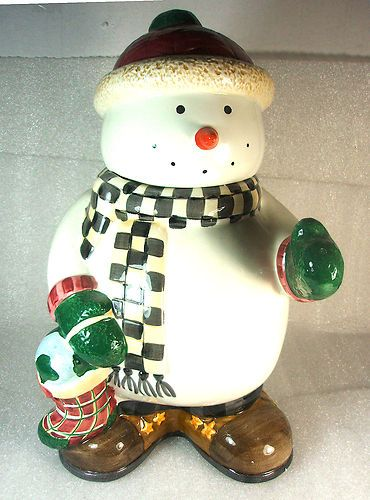 Debbie Mumm Snowman Cookie Jar by Sakura