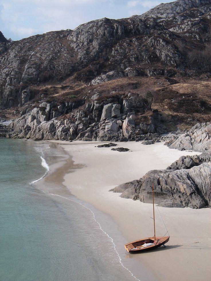 Unexpected beaches in Lochailort, Scotland.