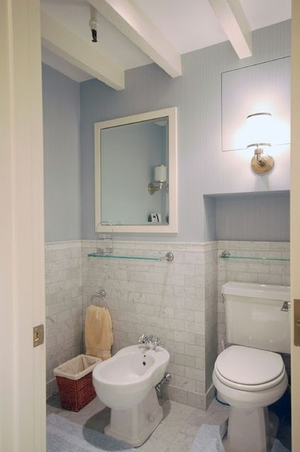 bathroom subway tile wainscoting home decor pinterest
