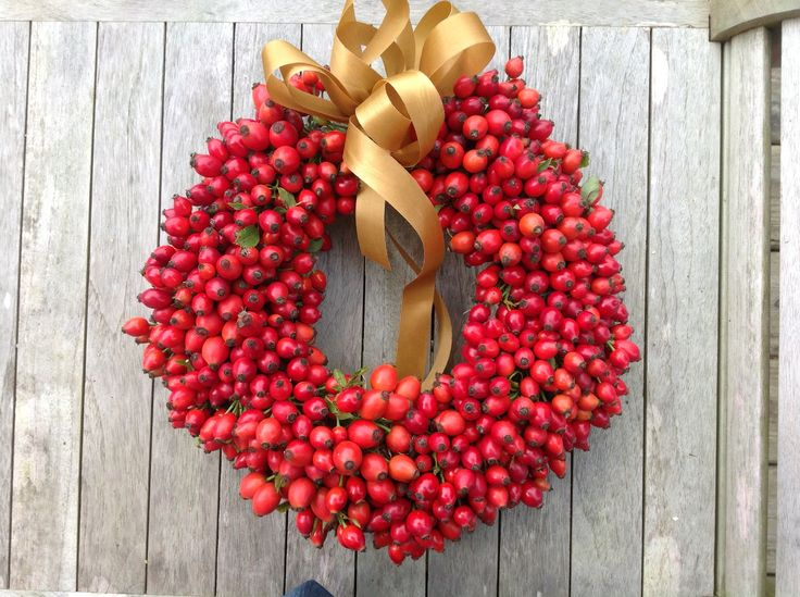 A beautiful Rosehip wreathe made by my incredible Mum! #blueshineart #christmas #wreath #handmade