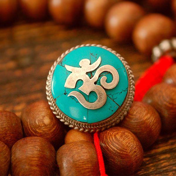 "Cosmic Nordu Vintage Tibetan Turquoise ""Om"" Ring | Organic Spa Magazine's 2013 Gift Guide: Yogini | #OrganicSpaMagazine"