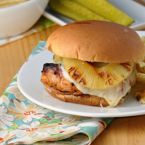 tuscan luau chicken on whisk together hawaiian chicken burgers on ...