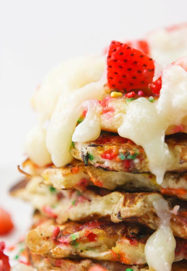 Funfetti Strawberry Pancakes | Recipe