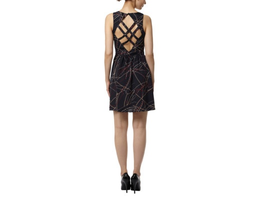 {splatter dotted flounce dress} by Willow & Clay - fabulous back detail