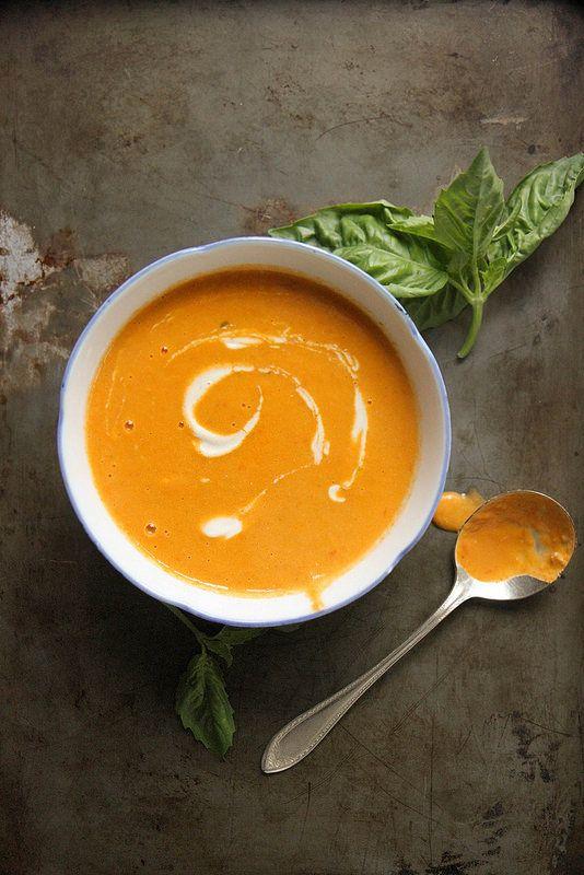 Creamy Tomato Basil Soup (Vegan) | Recipe