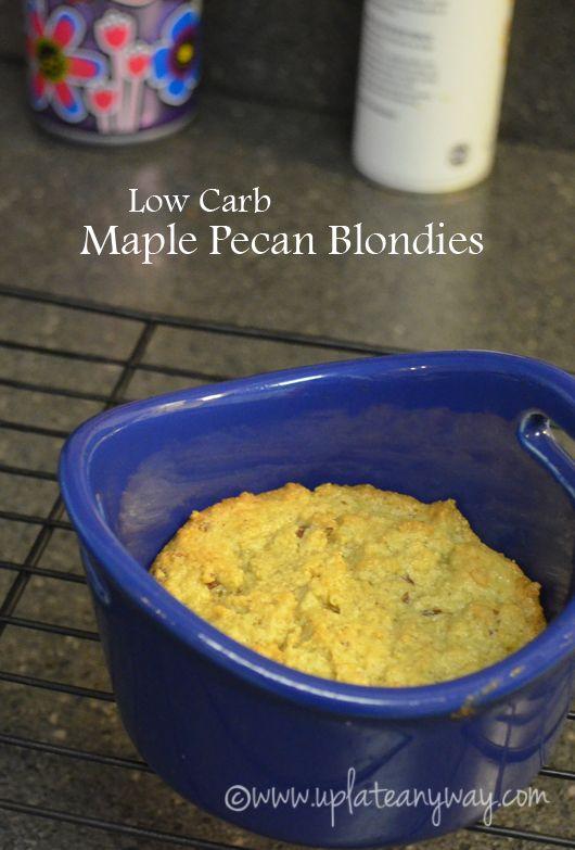 LC Maple Pecan Blondies -- one serving mug cookie :)