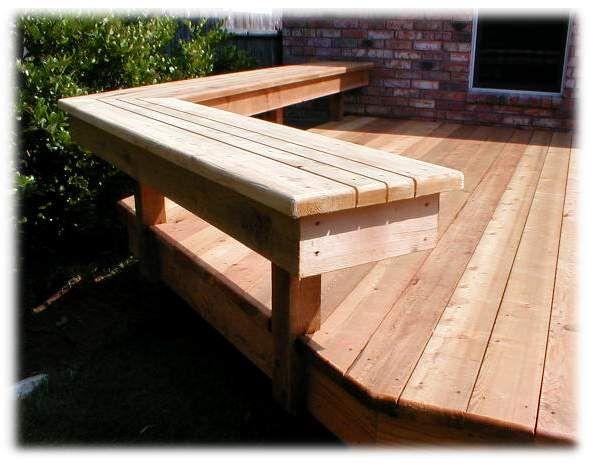 Deck Bench The Perfect Backyard Pinterest