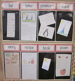 This is a perfect way to show the kids different types of writing!