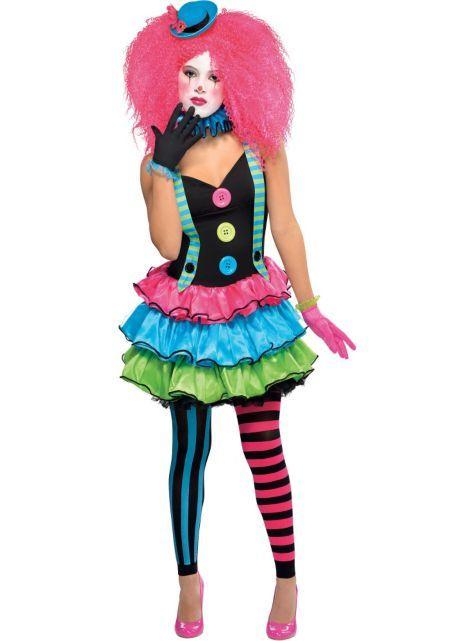 Teen Girls Cool Clown Costume