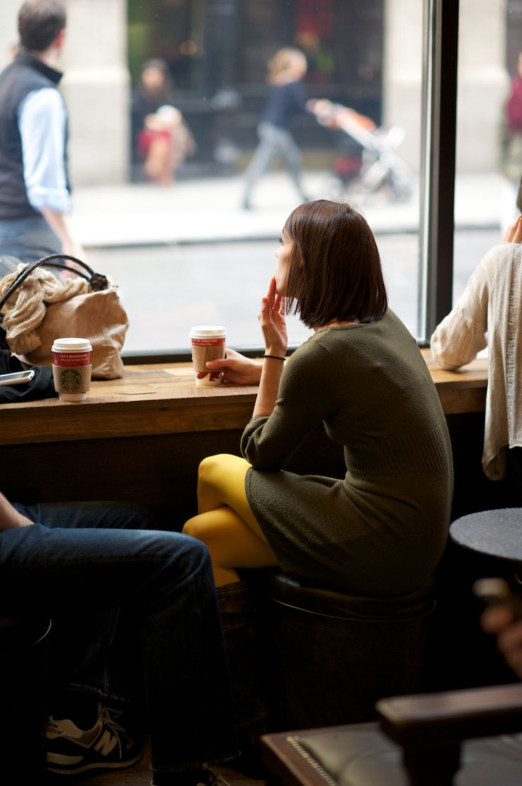 people drinking coffee