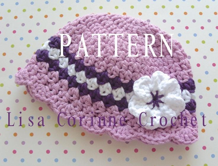 Modern Crochet Flower Pattern : Pin by Angela Lewis on Crochet Hats Pinterest
