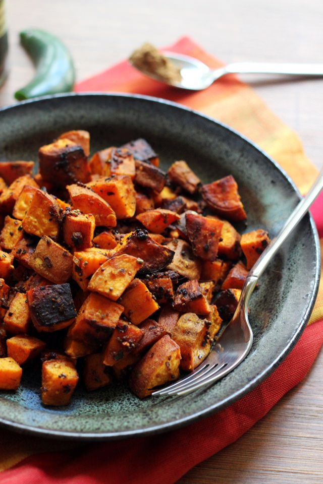 North Indian-Spiced Roasted Sweet Potatoes