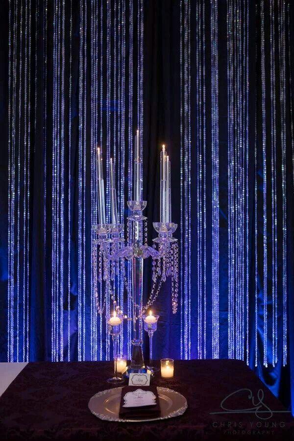 Crystal curtain backdrop | Wedding Decorations | Pinterest