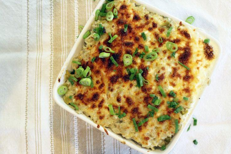 Cheesy Baked Green Chile Rice | Recipe