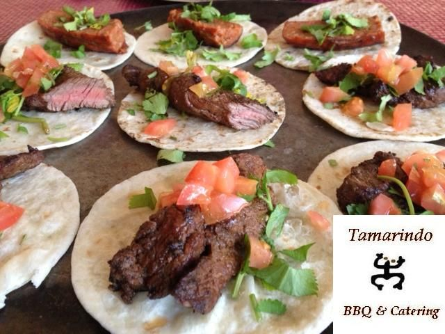 Catering special: Carne asada tacos. BBQ meat tacos. By: tamarindobbq ...