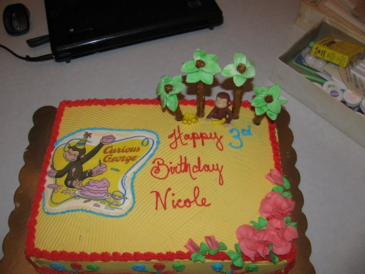 : Cakes Curious George for Nicole chocolate and white cake chocolate ...