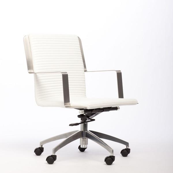 Trump Leatherette Adjustable Height Swivel Office Chair