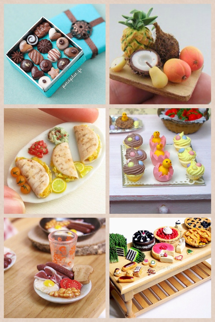 Polymer clay food amazing clay pinterest for Polymere cuisine