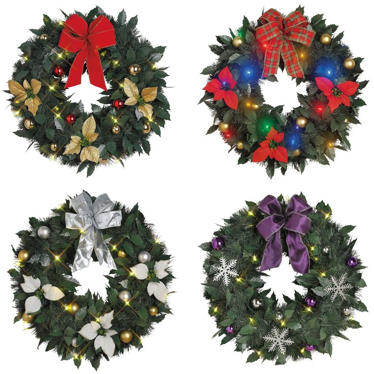 18 quot cordless led wreaths christmas decor brylanehome